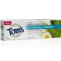 Tom's of Maine Botanically Bright Toothpaste, Spearmint 4.7 oz [077326832141]