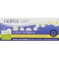 Natracare Organic 100% Cotton Tampons, Regular 20 ea [782126001009]