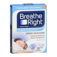 Breathe Right Nasal Strips Clear Small/Medium 30 Each [757145002429]