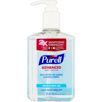 Purell Advanced Hand Sanitizer Refreshing Gel 8 oz [073852096521]