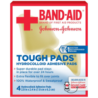 BAND-AID Tough Pads Hydrocolloid Adhesive Pads 4 ea [381371161485]