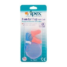 Apex Ear Plugs Foam With Cord 1  pr [076855000205]