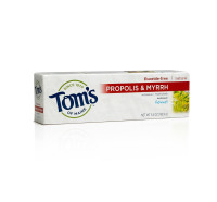 Tom's of Maine Antiplaque Fluoride-Free Fennel Toothpaste with Propolis & Myrrh 5.5 oz [077326830741]