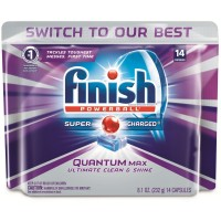 Finish Quantum Max Shine & Protect Dishwasher Detergent Tablets, Fresh Scent, 14 ct [051700927630]