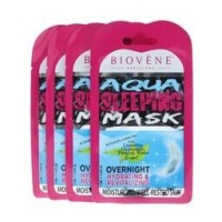 Biovène Aqua Sleeping Mask,12.5ml sachet (0.42 oz,) Nine Hour Night Mask to Achieve Moisturized, Well-Rested Skin