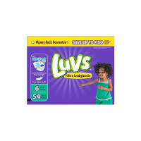 Luvs Ultra Leakguards Diapers, Size 6, 54 ea  [037000859321]