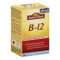 Nature Made B-12 Maximum Strength Softgels 5000 mcg 60 ea [031604028862]