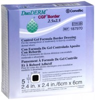 ConvaTec DuoDERM Control Gel Formula Dressings 2.5 X 2.5 Inches 187970 5 Each [768455102839]