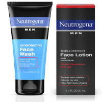 Neutrogena Men Triple Protect Face Lotion With Sunscreen, SPF 20 1.70 oz & Neutrogena Men Oil-Free Invigorating Foaming Face Wash 5.10 oz 1 ea [191567612475]
