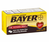 Bayer Genuine Aspirin Coated Tablets, 325 mg,  50 ea [312843555372]