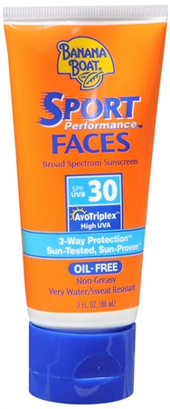 Banana Boat Sport Performance Faces Sunblock Lotion SPF 30 3 oz [079656044966]