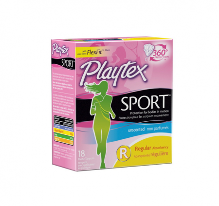 Playtex Sport Tampons Regular Unscented 18 Each [078300081098]