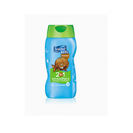 Suave Kids 2-in-1 Shampoo Smoothers, Cowabunga Coconut 12 oz [079400206374]