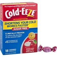 COLD-EEZE Cold Remedy Sugar Free Lozenges, Wild Cherry 18 ea [091108302998]