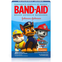 BAND-AID Adhesive Bandages, Nickelodeon Paw Patrol, Assorted Sizes & Character 20 ea [381371165896]
