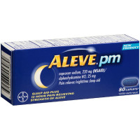 Aleve PM Pain Reliever Nighttime Sleep-Aid Caplets, 80 ea [325866553089]