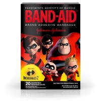 Band-Aid Brand Adhesive Bandages for Minor Cuts and Scrapes, Featuring Incredibles 2 Characters for Kids, Assorted Sizes 20 ct [381371175840]