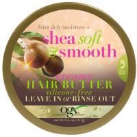 OGX Frizz Defy/Moisture + Shea Soft & Smooth Creamy Hair Butter 6.6 oz [022796901521]