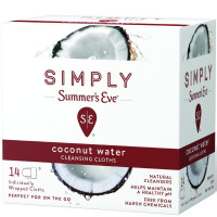Summer's Eve Simply Cleansing Cloths, Coconut Water 14 ea [041608003031]