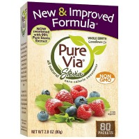 PureVia Stevia All Natural Zero Calorie Sweetener Packets 80 ea [858982001078]