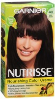 Garnier Nutrisse Haircolor - 40 Dark Chocolate (Dark Brown) 1 Each [603084242726]