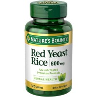 Nature's Bounty Red Yeast Rice 600mg 120 Capsules  [074312062124]