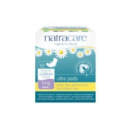 Natracare Ultra Pads, Wings Long  10 ea [782126003102]