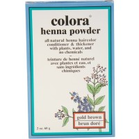 Colora Henna Powder Hair Color Gold Brown, 2 oz [028863000067]