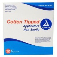Dynarex Cotton Tipped Applicators 6 inch 1000 Each [616784430225]