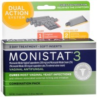 MONISTAT 3 Combination Pack Disposable Applicators 3 Each [363736443054]