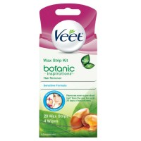 Veet Body, Bikini and Face Hair Remover Wax Kit, 20 ct [062200850151]