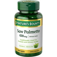 Nature's Bounty Saw Palmetto 450 mg 100 Capsules [074312441912]