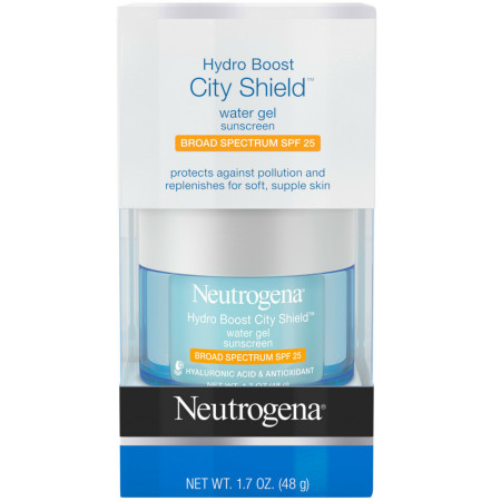 Neutrogena Hydro Boost City Shield Water Gel with Hydrating Hyaluronic Acid, Antioxidants, and Broad Spectrum SPF 25 Sunscreen 1.7 oz [086800113478]