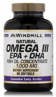 Windmill Natural Omega III EPA + DHA Fish Oil Concentrate 1000 mg Softgels 90 Soft Gels [035046003340]