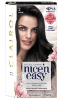 Clairol Nice 'n Easy Permanent Color, [2] Black 1 ea [070018116796]