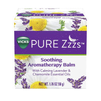 Vicks Pure Zzzs Soothing Aromatherapy Balm with Essential Oils, 1.76 oz  [323900039643]