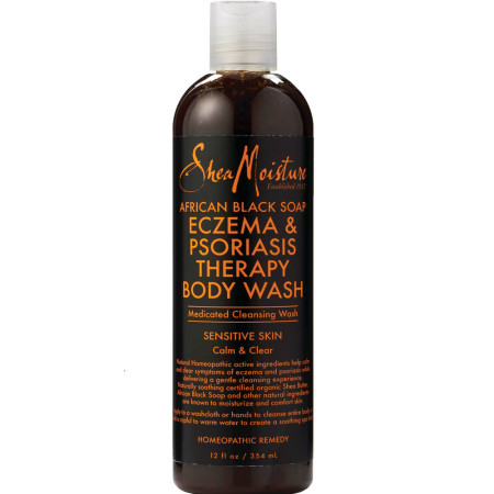 Shea Moisture African Black Soap Eczema & Psoriasis Therapy Body Wash 12 oz [764302270607]