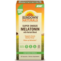 Sundown Naturals Super Snooze Melatonin Capsules 90 ea [030768763565]