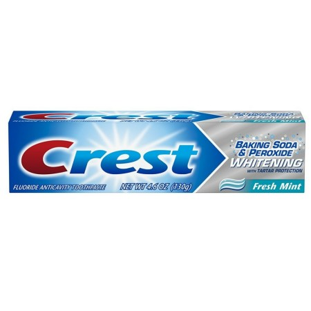 Crest Baking Soda & Peroxide Whitening with Tartar Protection Toothpaste, Fresh Mint 4.6 oz [037000320234]