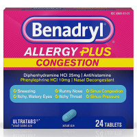 Benadryl Allergy Plus Congestion Ultra Tablets 24 ea [300450557261]