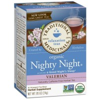 Traditional Medicinals Organic Herbal Tea Bags, Nighty Night Valerian 16 ea [032917002198]