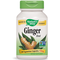 Nature's Way Ginger Root Capsules, 550 mg 100 ea [033674131008]