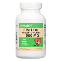 Major Fish Oil Cholesterol Free 1000MG 100 Soft Gels per Bottle 1 ea [309044043609]