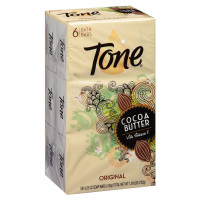 Tone Bath Bars with Cocoa Butter and Botanicals, 4.25 oz bars, Original Scent, 6 ea [017000078038]