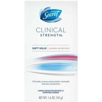 Secret Clinical Strength Anti-Perspirant Deodorant Advanced Solid, Powder Protection 1.60 oz [037000096146]