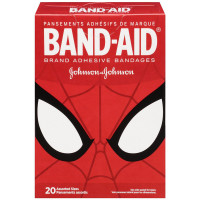 BAND-AID Marvel Spiderman Adhesive Bandages, Assorted Sizes 20 ea [381371162833]
