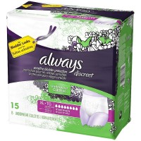 Always Discreet Maximum Absorbency Underwear, Extra Large 15 ea [037000887614]
