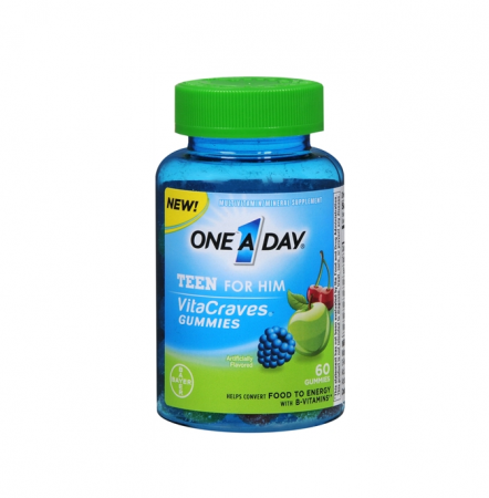 One-A-Day Vitacraves Teen For Him Gummies, Assorted 60 ea [016500558194]