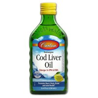 Carlson Labs Code Liver Oil, Natural Lemon Flavor 8.40 oz [088395013515]