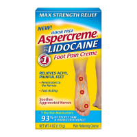 Aspercreme Lidocaine Foot Pain Creme, 4 oz [041167058626]